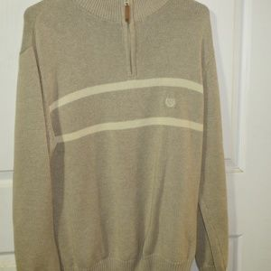 Chaps Long Sleeve Zip Front Sweater